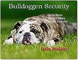 Merchandise for Fans Warnschild - Schild aus Aluminium - 20x30cm Motiv: Englische Bulldogge Security (01)