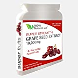 Grape Seed Capsules 100% Natural Co Super Strength Extract