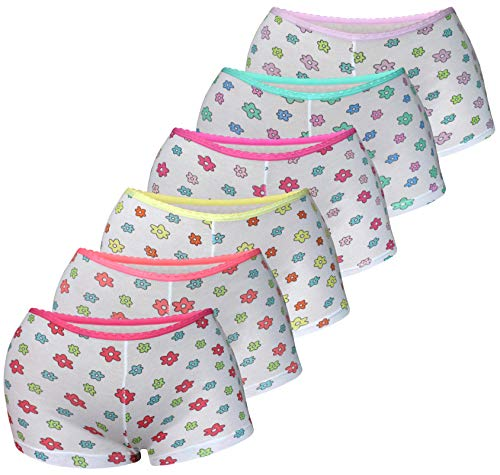 6 Pack Kinder Mädchen Baumwolle Pantys (128-140 (8-10Jahre), Modell 22)