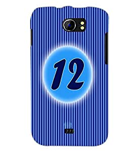PrintDhaba Numerology Number 12 D-2568 Back Case Cover for MICROMAX A110Q CANVAS 2 PLUS (Multi-Coloured)