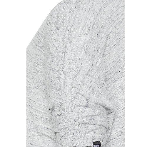 Chiemsee Damen Überschnittene Schultern aus 100% Leinen T-Shirt 9209 Ligth Grey Melange