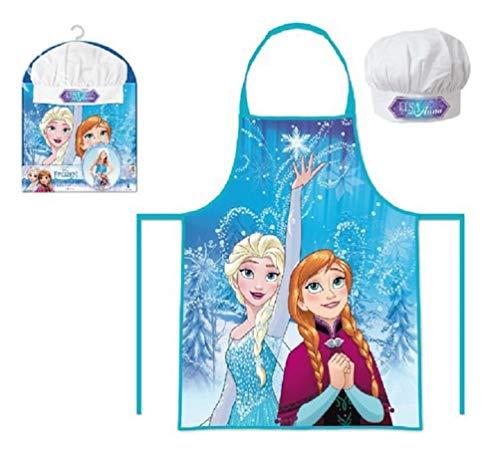 Die Eiskönigin Anna und Elsa Kinder Chefkoch Set 2 tlg. Kochmütze und Kochschürze, 3-8 Jahre, Türkis (Eis Königin Kostüm Kinder)
