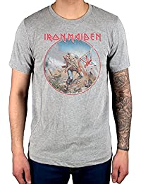 AWDIP Official Iron Maiden Trooper Vintage Circle T-Shirt Book of Souls Transylvania Eddie