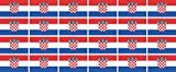 Mini Fahnen / Flaggen Set glatt - 33x20mm - selbstklebender Aufkleber - Kroatien - Sticker fürs Büro, Schule und zu Hause - 24 Stück