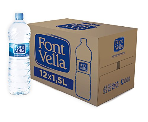 Foto de Font Vella - Agua Mineral Natural fácil de apilar- Caja 12 x 1,5 L