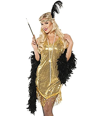 Underwraps Gold Swingin Flapper Dress 20's Halloween Costume-S Small