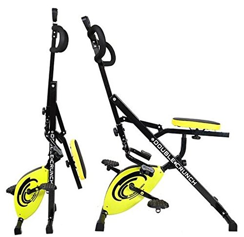 Double Crunch attrezzo fitness modalita' cyclette 2 in 1