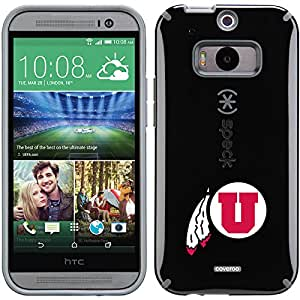 Coveroo CandyShell Cell Phone Case for HTC One M8 - Retail Packaging - University of Utah Feather