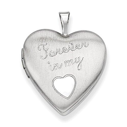 Medaillon In Meinem Herz Für Immer (IceCarats Designer Schmuck Sterling Silber 20mm immer in meinem Herzen Medaillon)