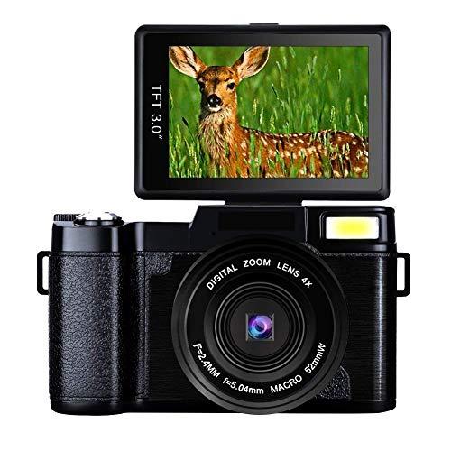 Digital Camera Full HD Video Camera 1080p 24.0MP Vlogging Camera Flip Screen 180 Degree Rotation