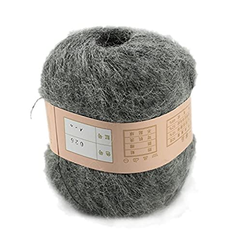 Jellbaby Angola Mahai wool plush line special Mahai wool line color is complete*1pc (Dark Grey)