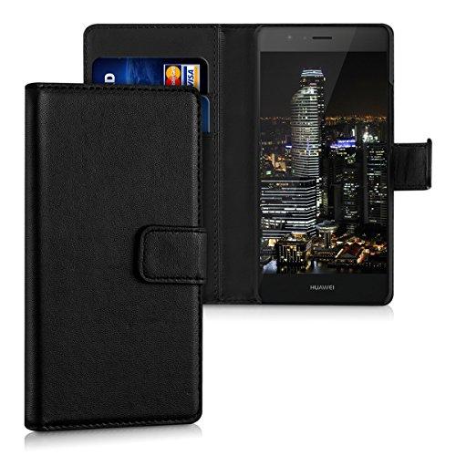kwmobile Huawei P9 Lite Hülle - Kunstleder Wallet Case für Huawei P9 Lite mit Kartenfächern und Stand