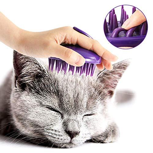 LANGING Silikon-Badebürste für Katzen, waschbar -