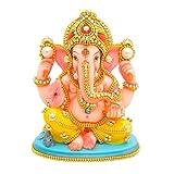 #1: Papilon Handmade Gold Plated Siddh Ganesh Ji Spiritual idols Decorative Puja / Vastu Showpiece Religious Pooja Gift item & Murti for Mandir ,Temple,Home Decor & Office (5x4x7)