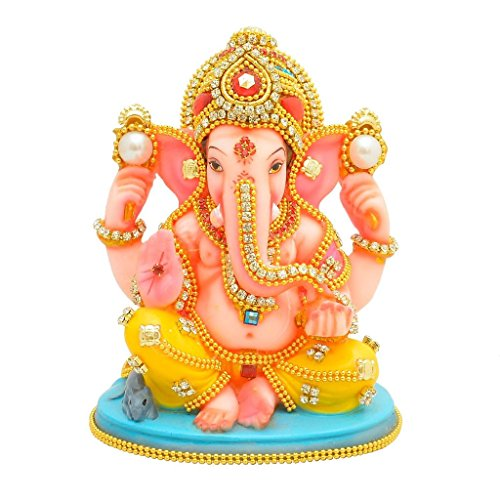 Papilon Handmade Gold Plated Ganesh Ji Spiritual idols Decorative Puja / Vastu Showpiece Religious Pooja Gift item & Murti for Mandir ,Temple,Home Decor & Office 51R3mDj7KTL