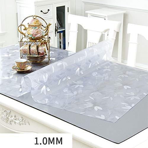 Gfzb1201 tovagli tovaglia in pvc impermeabile anti-scottatura in vetro morbido plastica tovaglia trasparente in cristallo per tavolino da pranzo tavolo da pranzo (size : 90 * 160cm)