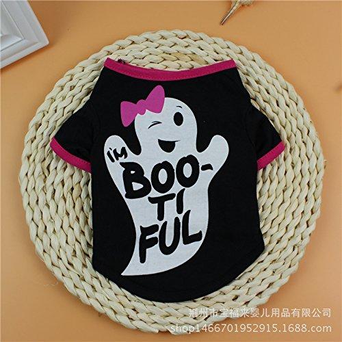 Hund Kleidung Baumwolle Print T-Shirts Kleiner Hund Haustiere (Thanksgiving T-shirt Hund)