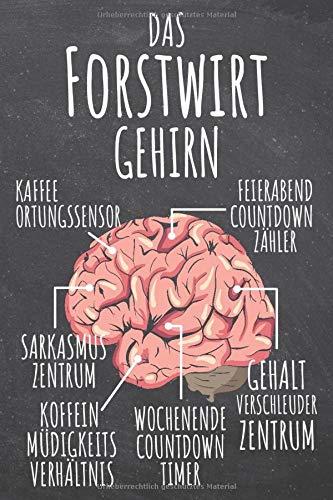 Das Forstwirt Gehirn: Forstwirt Punktraster Notizbuch, Notizheft oder Schreibheft | 110  Seiten | Büro Equipment & Zubehör | Lustiges Geschenk zu Weihnachten oder Geburtstag