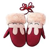 Kinder Handschuhe SHOBDW Winter Kinder Mädchen Jungen Twist Handschuhe Warm Vollfinger Handschuhe (Rot)