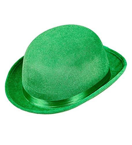 Widmann 14351 - Bowler Saint Patricks Day aus Samt, grün