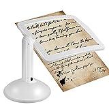 Symboat Mains libres 3x loupe 2 LED loupe outil lentille lampe de lecture pour table de bureau