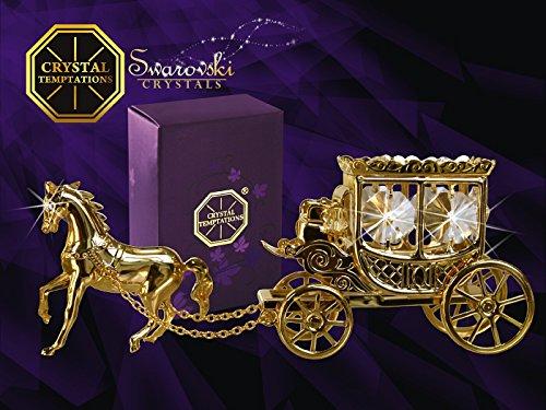 Germany crystal temptations - carrozza con cavallo con cristalli swarovski