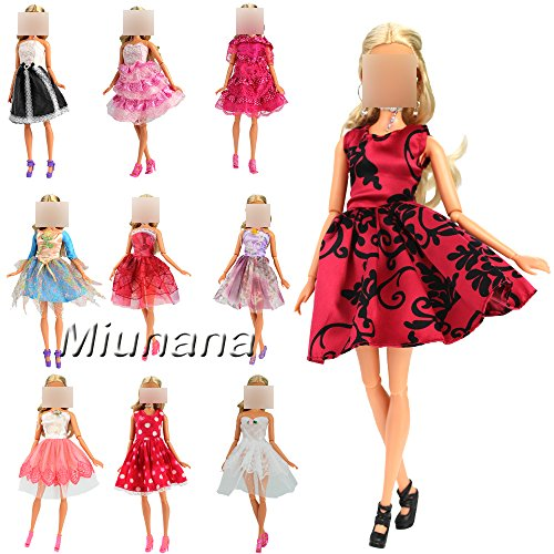 Preisvergleich Produktbild 5 St. Fashionistas Ballkleid Abendkleid Kleidung Kleider Cocktailkleid Minikleid für Barbie Puppen