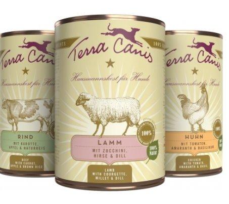 Terra Canis Classic Hundefutter 12 x 400g Dosen Mix (8 Dosen Hundefutter)