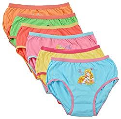 THE BODY CARE Girls Panty (BC922-Packof6--4-6 years, Multi-Coloured, 4-6 years)