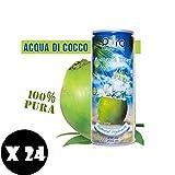 Prodotto Acqua di Cocco PURA 100Quantita' 24 Bottigliette da 280 ML No lattinaIngredientienbspingredienti Acqua di cocco pura 99,94, acido citrico 0,02, acido asorbico 0,04CaratteristicheLacqua di cocco viene ricavata dalla noce di cocco verd...