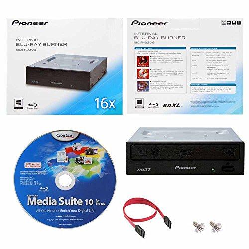 Internal Blu-ray BDXL DVD CD Burner Writer-Laufwerk in Kleinkasten mit Cyberlink Media Suite Software + Kabel und Befestigungsschrauben ()