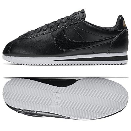 Nike Wmns Classic Cortez Leather, Zapatillas de Deporte para Mujer, Blanco (White / Black-White), 36 EU