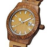 North King Quarz-Uhren für Männer Wasserdicht Sandelholz Paar Watch Harz Mode Wood Watch Mans Watch