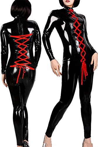 Frauen Sexy Leder Halloween Cosplay Dessous Kostüm Catwoman -
