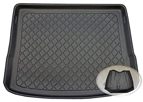 ZentimeX Z3106037 Gummierte Kofferraumwanne fahrzeugspezifisch + Klett-Organizer (Laderaumwanne, Kofferraummatte)
