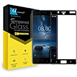 Ascension ® For Nokia 8 Border Edge To Edge Tempered Gorilla Screen Protector High Premium Quality 9h Hard 2.5D Ultra Clear (Black) (Set Of 1)