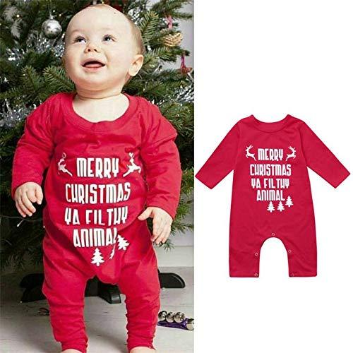 (Kleider Kinderbekleidung Honestyi Mom & Me Mädchen Frauen Weihnachten Deer Langarm Kleid Familie Outfits Kleidung (Grün,90))