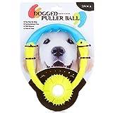 ZNOKA Dog Tug Toys Tough Ball, Nontoxic TPR Bite Resistant Toy Ball Handle Ball for Various Pet Dogs, Bite Resistant Pet Exercise Game Ball IQ Training Ball
