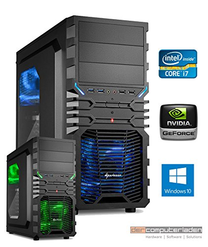Gamer PC System Intel, i7-7700K (Kaby Lake) 4×4,2 GHz, 32GB DDR4 RAM, 2000GB HDD, nVidia GTX1080Ti -11GB, Windows 10 Gaming Computer Büro Multimedia dercomputerladen 51R3sEr0sRL