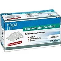 Höga-Pharm Alkoholtupfer Premium, zur äußeren Anwendung, reißfest, gebrauchsfertig, 2 lagig, 1er Pack (1 x 100... - preisvergleich