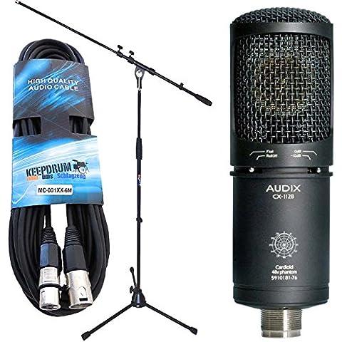 Audix CX112–B microfono condensatore a grande diaframma Studio microfono + supporto microfono KEEPDRUM + 6M cavo