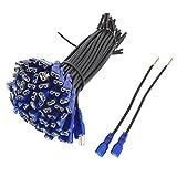 100 pcs Schwarz Blau Lautsprecherkabel Spiralkabel Steckverbinder für Auto
