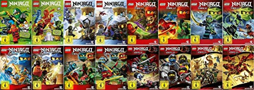 Lego Ninjago Staffel 1-9 (1.1+1.2+2.1+2.2+3.1+3.2+4.1+4.2+5.1+5.2+6.1+6.2+7.1+7.2+8.1+8.2+9.1+9.2) [DVD Set]