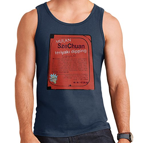 Mulan Szechuan Dipping Sauce Rick And Morty Men's Vest Navy Blue