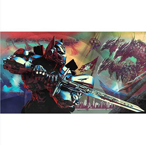 Transformers Optimus Prime Kunst Seide Oder Leinwand Poster Wohnzimmer Print Movie Wall Bild 40X60 cm Ohne Rahmen