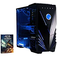 Vibox Sniper 10  Gaming PC - with Warthunder Game Bundle (4GHz Intel i7 Quad Core Processor, Nvidia Geforce GTX 970 Graphics Card, 120GB Solid State Drive, 1TB Hard Drive, 16GB RAM, Vibox Tactician Blue LED Case, No Operating System)