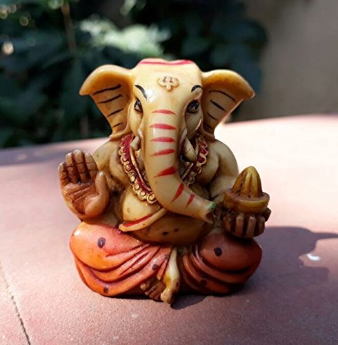 Collectible India God Ganesha Car Dashboard Decor Statue   Hindu Idol God Ganesh Ganpati Decor Sculpture   Decorative Gift  available at amazon for Rs.99