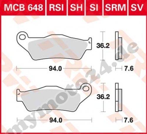 Preisvergleich Produktbild TRW / Lucas MCB648SI motorradbremsbelag Sinter Offroad mit ABE
