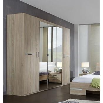 Germanica BAVARI Bedroom Furniture: 5-Door Wardrobe in Mirrored and ...