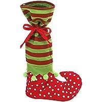 Hellodd Christmas Elf Candy bag Santa Candy calzini bottiglia di vino Wrap